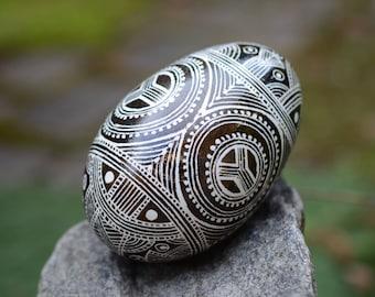 Neolithic egg Cucuteni Trypillian region stone age figure of great Goddess symbols of unity tranquility calmness levelness