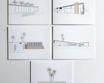 Palm Springs Modernism Mid Century Modern Architecture Boxed Cards