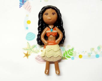 Cold Porcelain Clay Moana Figurine, Pendant, Moana Ornament, Purse Charm, Bow Center, Brooch, Magnet, Gift /DIY Princess Necklace, Jewelry