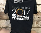 23 NAVY shirts - Solar Eclipse 2017 Seit Farms, Nebraska - comes with FREE set of viewing glasses - GC