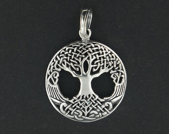 Celtic Tree of Life Pendant in Sterling Silver