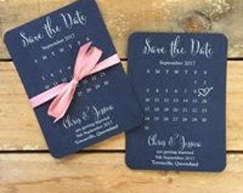 Save the date cards - Calendar Style