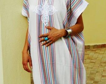 SUMMER 10% OFF // Bedouin Style Resort Caftan Kaftan- White-Perfect as loungewear, as beachwear,cover ups,resortwear, Kaftan, maternity, bir
