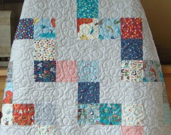 Lullaby - Quilt Kit with Hello World fabric from Moda