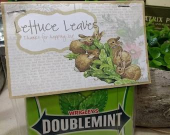 NEW - Peter Rabbit's Lettuce Leaves Candy Bag Tags - PETER RABBIT Party Favor Kit - Beatrix Potter