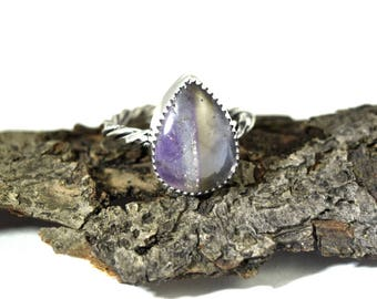 Natural Ametrine Ring - Size 7.5 - Amethyst and Citrine Ring - Sterling Silver and Ametrine - Untreated Ametrine Jewelry