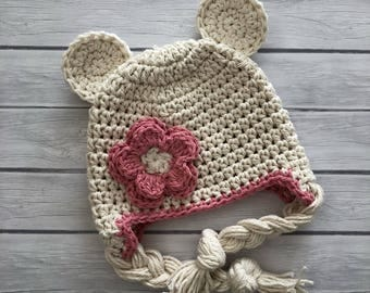Bear hat, baby bear hat, newborn bear hat, baby hat, crochet bear hat, baby boy hat, newborn hat, teddy bear hat, crochet bear hat