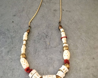 red corals long necklace - 24K gold plated