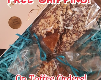 Free Shipping on our Traditional English Toffee for Christmas!