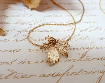 Fall Wedding Jewelry, Rustic Bridal Accessories, Gold Leaf Pendant Necklace, Rustic Necklace, Brass Leaf Necklace, Fall Necklace, Gift Idea