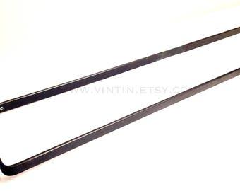 Blacksmith Hand Forged Iron Metal Steel Simple Minimalist Contemporary Modern Flat Bar Bathroom or Kitchen Towel Bar or Holder by VinTin