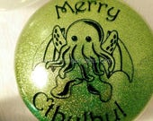 Merry Cthulhu Ornament - Green