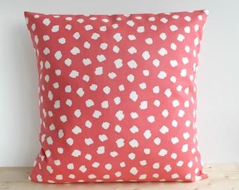 coral pillow cover 16x16 18x18 20x20 cushion cover pink pillow sham