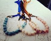 Add-on bracelet, Howlite stone, turquoise bracelets, stacking bracelets, layering bracelets