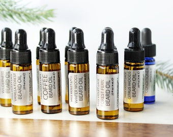 Gifts for Men | Beard Oil Sampler set | Christmas Gifts | Trial size 100% natural and vegan beard oils
