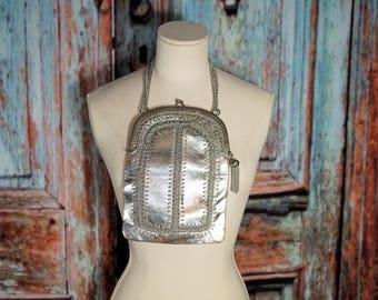 Vintage Silver Solar Purse