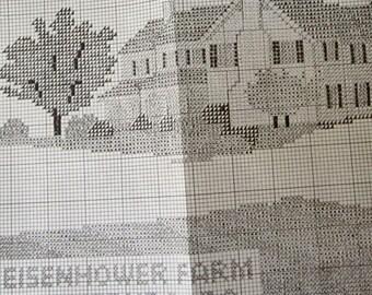 EISENHOWER FARM Gettysburg PA Counted Cross Stitch Kit