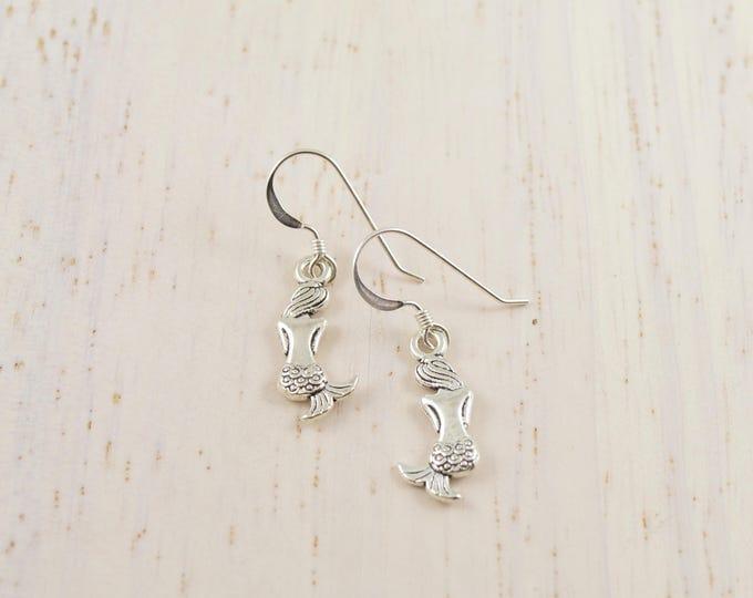 Silver Bat Earrings