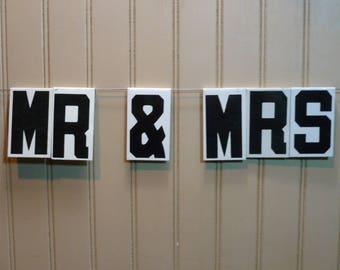 Wedding Sign MR & MRS Vintage Metal Sign Letters -  Church Sign Lettering