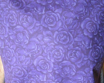 Adult Bib reversible Shirt Protector Special Needs Apron extra long Purple Roses