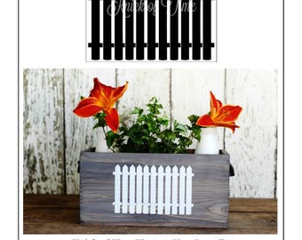 Picket Fence Stencil - Farmhouse Sign Vintage Sign Stencils for signs, pillows, home decor