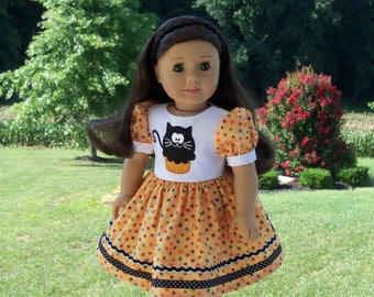 "18"" Size /Embroidered Halloween Dress  for 18"" American Girl® Dolls"