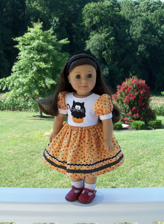 "SUPER SATURDAY SALE!  18"" Size /Embroidered Halloween Dress  for 18"" American Girl® Dolls"