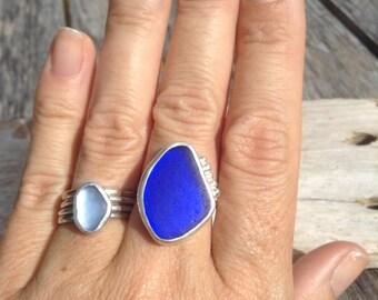 Cobalt Blue Caribbean Ring Size 7