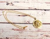 Vintage Gold Necklace - Vintage Art Deco - Vintage Medusa Necklace - Medusa Jewellery - Gold Chain Necklace