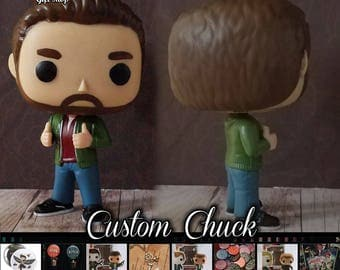 Supernatural Plain Clothes Chuck - Custom Funko pop toy