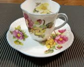 Shelley Bone China Demitasse Cup and Saucer