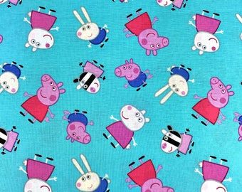 Peppa pig fabric | Etsy : peppa pig quilting fabric - Adamdwight.com