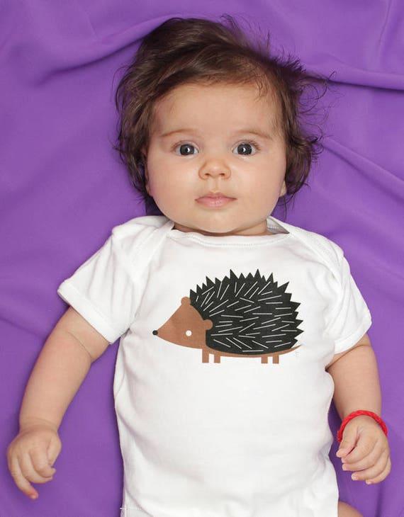 Hedgehog baby clothes, hedgehog baby bodysuit, baby boy clothes, baby girl clothes, hedgehog baby gift