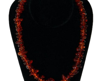 Vintage 1950's Amber Bead Necklace