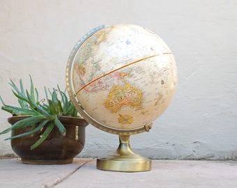 Vintage Replogle World Classic Series Globe 12inch Diameter Globe World Globe Map Vintage Globe Home Decor Tan World Globe Classroom Globe