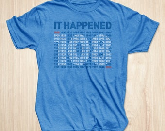 Chicago Cubs Shirt, Chicago Cubs World Series It Happened T-shirt