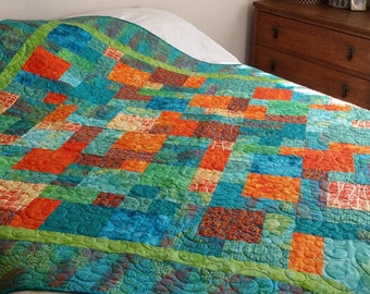 Lap Quilt, Twin/Full/Daybed Quilt, Tropical, Beach, Ocean, Boho, Hippie, Wedding, Anniversary, Birthday, Gifts for Her, Gifts for Him.