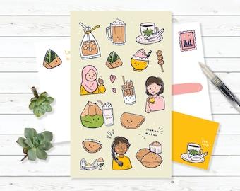 Postcard : Malaysian Foods
