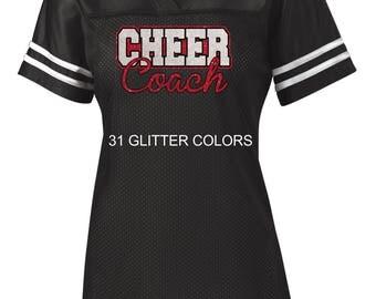 Glitter Cheer Coach Jersey