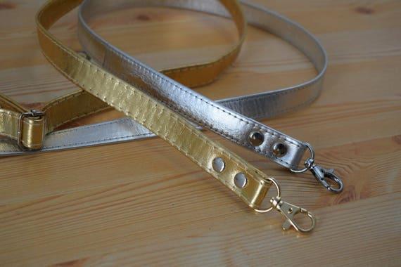 Leather purse strap,leather straps,purse straps,silver strap,golden strap,crossbody strap,gold strap,silver leather strap,leather bag strap