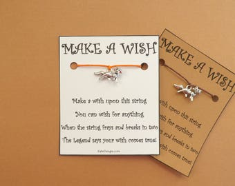 Fox Wish Bracelet  Wish String Amulet BFF Friendship Bands Choice Card Color (code: 10)