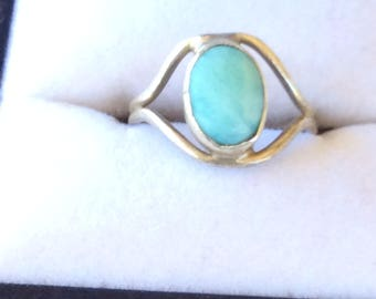 Authentic Vintage RARE LARIMAR Sterling SILVER Hand Made Crafted Ring, Engagement, Promise, Birthday, Friendship, Free Postage.