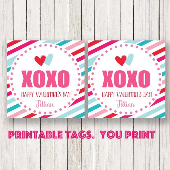 Valentines Day Kids Cards ValentineS Tag Valentines Labels Red