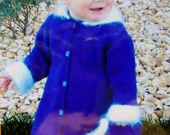 Knitting Pattern | Knitting Pure & Simple | LITTLE GIRLS Dressy Coat SET | Handknitting | Hand Knit | Kids | Baby