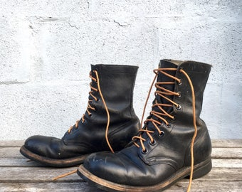 9 N (Narrow)   1960's Vietnam Era Combat Boots Military Boots BILTRITE Soles