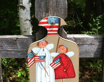 4th of July decor, primitive home decor, fourth of July, wooden sign, summer decor, Americana door decor,American flag, patriotic