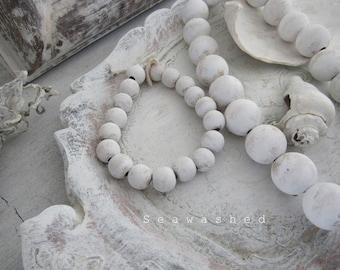 SEAWASHED  BEADS Coastal Seaside Beach Bohemian Zen Mala Prayer Meditation Quiet Jeanne D Arc Living Style