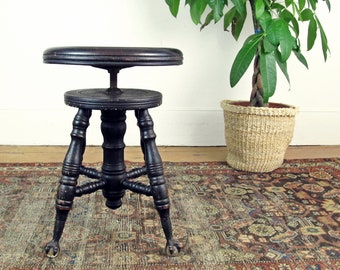 Antique Piano Stool Etsy
