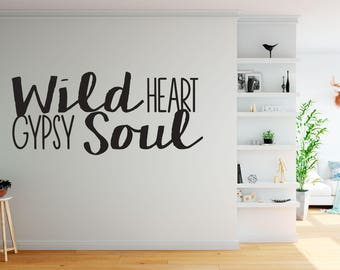gypsy soul decals etsy. Black Bedroom Furniture Sets. Home Design Ideas