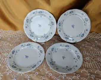China Dessert / Bread & Butter Plates Blue Garland (Bavarian Backstamp) by Johann Haviland *eb